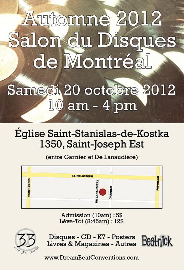 Le Salon du disque de Montréal – automne 2012