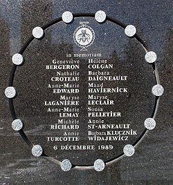 6 décembre 1989: 14 filles assassinées