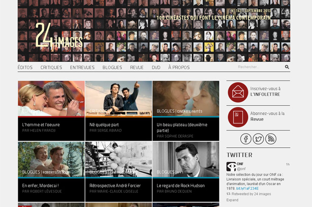 Regard sur le nouveau site Web de 24 images
