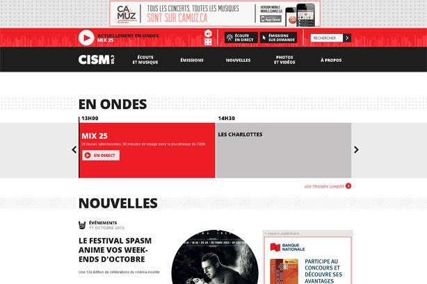 Regard sur le nouveau site Web de CISM