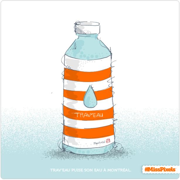 Une nouvelle bouteille d'eau pour Montréal…