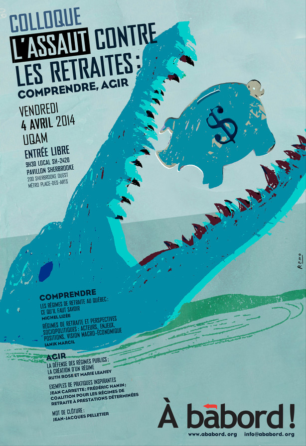 L'affiche du colloque d'À Bâbord sur les retraites