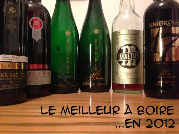Meilleures bières québécoises en 2012