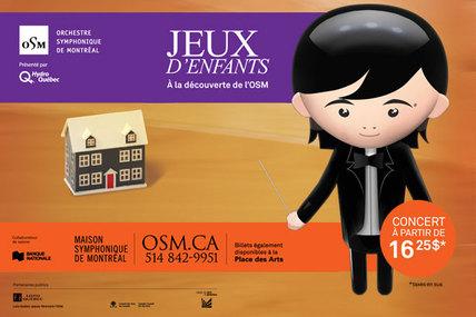 Venez vivre un moment magique en famille à l'OSM, grâce à la série de concerts Jeux d'enfants!