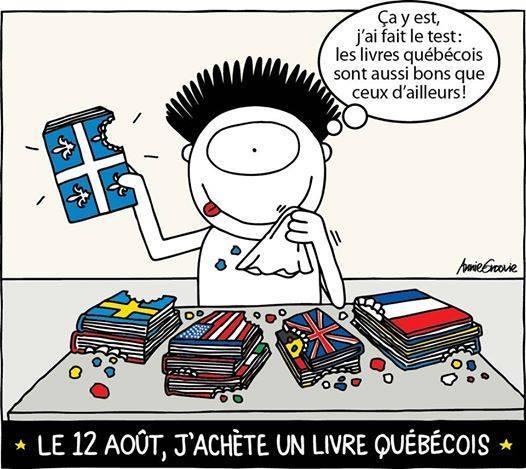 Le 12 août : j'achète un livre québécois