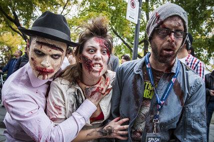 Galerie photos: la Marche des zombies de Montréal