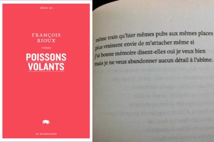 Prix des libraires de poésie québécoise: François Rioux remporte la première édition avec <i>Poissons volants</i>
