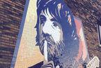 Plume Latraverse immortalisé par une murale au Bain Mathieu
